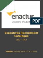 2013-2014 Enactus Executives Recruitment Catalogue