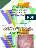 Alteraciones Bucales Dentro de Los Patrones de Normalidad