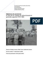 La Persecucion de Los TJ en El Genocidio Argentino FINAL