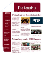 The Centrists (CDP Newsletter), Volume 1, Issue 1