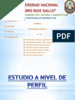 Proyecto - Estudio a Nivel de Perfil