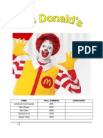 Strategic Management  - Mcdonalds