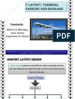 A Presentation on Airport layout, terminal buildings, parking space and hangars