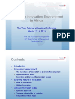 Measuring innovation environment in Africa