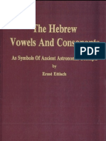 The Hebrew Vowels and Consonant