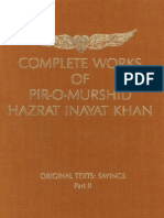 Complete Works of Pir-O-Murshi Hazrat Inayat Khan Original Texts Sayings Part II