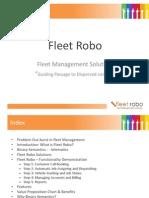 Fleet Robo - Vehicle Tracking Software Solutions