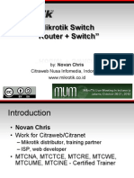 Mikrotik router / switch