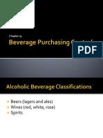 Beverage Purchasing Control