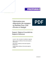 PAEPARD 2 COLEACP ULP Rapport Rgional Consolid Valorisation Non Alimentaire Des Mangues Fv2013