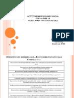 ACTIVITĂȚI RESPONSABILE SOCIAL DEZVOLTATE DE  HEIDELBERGCEMENT GROUP (HC)