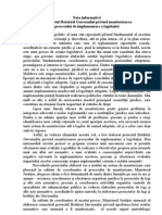Nota informativa la proiectul Hotărîrii Guvernului privind monitorizarea procesului de implementare a legislaţiei