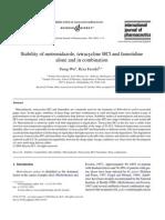 fassihi_StabilityofmetronidazoletetracyclineHClandfamotidine