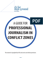 A Guide for Professional Journalism in Conflict Zones