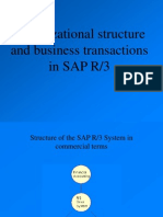 Organizational Structure and Business Transactions in SAP