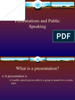Presentations and Public Speaking