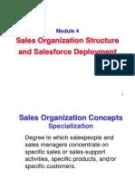 Sales Organization Structure and Salesforce Deployment