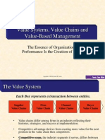 Value Systems, Value Chains and Value-Based Management