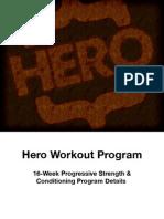 Hero Handbook Strength and Conditioning Details