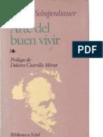 Schopenhauer Arthur - Arte Del Buen Vivir