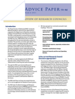 Triennial Review of Research Councils