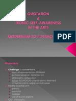 2. Quotation & Ironic Self-Awareness in Art_modernism & Beyond