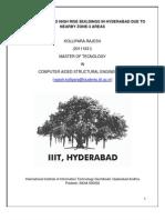 Siesmic Threat to Hyderabad Buildings