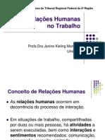 Relações humanas no trabalho - 2