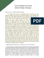 Intrduction à la philo morale de Kant textes