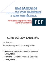 REGRAS E CORRIDAS COM OBSTÁCULOS