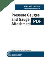 ASME B40.100-2005 Pressure Gauges and Gauge Attachments