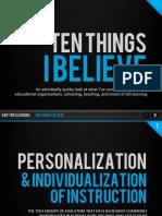 Ten Things i Believe