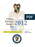 OB27 - Oceana Budget Act 2012 ADOPTED
