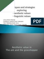 Lga 3103 Aesthetic and Linguistic Values