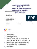 Senioren Lernen Online Life Long Learning, EEE-PC, Web 2.0