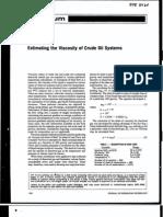 Estimación de la viscosidad de los Sistemas de Petróleo Crudo