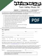 5 k Registration Form