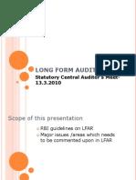 Long Form Audit Report