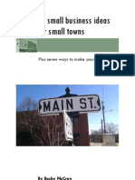 20 Small Business Ideas for Small Towns