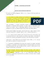 RESUMO DE DIREITO ELEITORAL - março de 2013