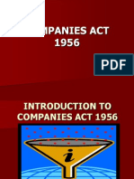 Introduction to Companies Act 1956-1