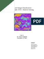 ERDAS - Digital Image Classification [Geography 4354 – Remote Sensing]