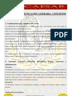 TEMA 8 LA COMUNICACIÓN LITERARIA. CONCEPTOS BÁSICOS
