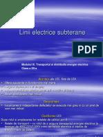 Linii electrice subterane
