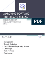 Improving Port and Hinterland Access