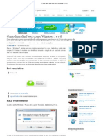 Como Fazer Dual Boot Com o Windows 7 e o 8