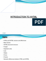 Chapter2 Intron to XHTML - Web Technologies