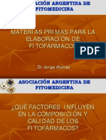 MATERIAS PRIMAS PARA ELABORAR FITOFÁRMACOS