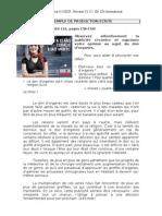 EXEMPLES DE PRODUCTION ÉCRITE