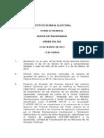 Orden del día de la Sesión Extraordinaria del  CG - 13 marzo 2013.pdf
